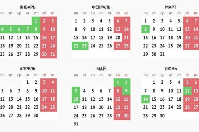 Власти РФ составили производственный календарь на февраль 2021 года
